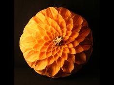 Leaf Pumpkin Wheel by Pam Pfropper of A'peeling Fruit, Sterling Heights, MI, 2014 | http://www.apeelingfruit.com