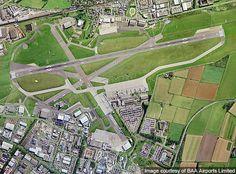 Aerial view of the Aberdeen International Airport, Scotland seen @ http://www.airport-technology.com/projects/aberdeeninternationa/