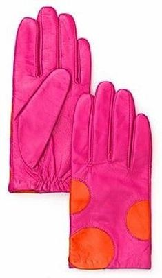 Love these bright polka dot gloves for winter! - kate spade new york Shorty Dot Gloves Magenta, Orange And Purple, Pink Brown, Orange Color, Colour, Polka Dot Gloves, Pink Gloves, Orange Fashion, Pink Fashion