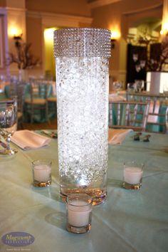 White Glowing Centerpiece #weddings