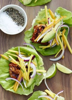 Chipotle Chicken Lettuce Wraps / What's Gaby Cooking