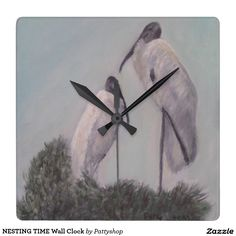 NESTING TIME Wall Clock