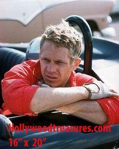 """Steve McQueen~~Jaguar~Photo~Color~Poster~16"""" x  20"""""""