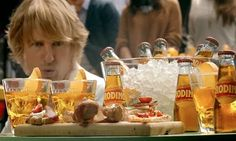 "Nicknamed, ""the blond."" Owen Wilson hamming it up for Crodino."