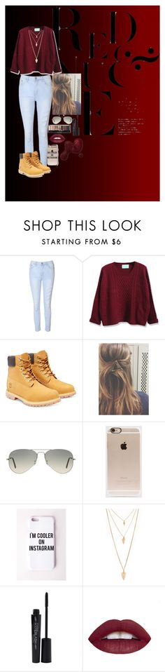 """""""im cooler on instagram"""" by katiecutie31 on Polyvore featuring Glamorous, WithChic, Timberland, Ray-Ban, Incase, Missguided, Forever 21, Smashbox, women's clothing and women"""