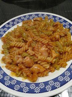Fresco, Tapas, Pasta, Macaroni And Cheese, Shrimp, Spaghetti, Meat, Ethnic Recipes, Food