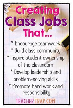 Goals of Classroom Jobs
