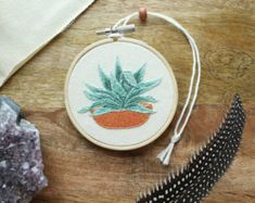 Items similar to Cactus Embroidery Hoop Art / Succulents / Hand Embroidery / Gift for the Home / Wall Art / Home Decor on Etsy
