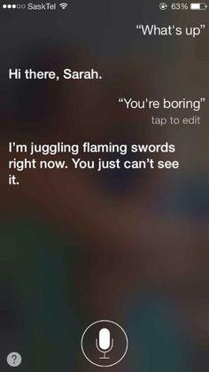 Siri, Siri, Siri...