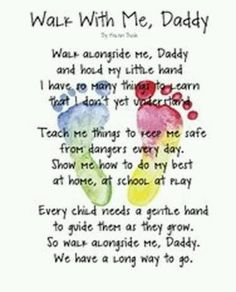 Poem with footprints, cute gift idea from child