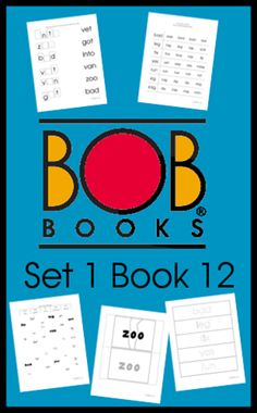 FREE BOB Books Printables - Set 1 Book 12