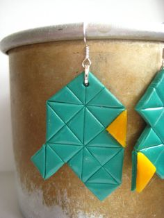 triangle geometric earring