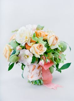 pink and #peach #bouquet