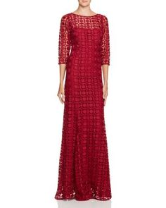 bb18d19463 Kay Unger Embroidered Gown Formal Dresses With Sleeves