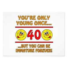 19 Best Funny 40th Birthday Invitations Images Invitation Cards