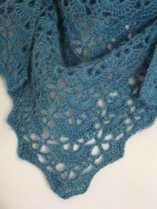 Lovely blue shawl! it's a free lion brand pattern http://www.lionbrand.com/patterns