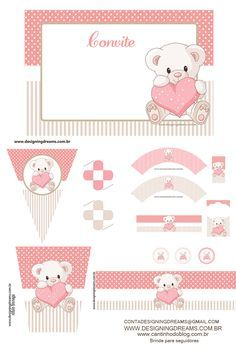 Kit festa pronta Chá de bebê grátis para baixar - Cantinho do blog Layouts e Templates para Blogger