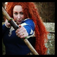 My beautiful bow made for me by my insanely talented friend. Yes it is a real oak bow and the most beautiful prop I own. #cosplay #disneycosplay #disney #brave #meridacosplay #merida #meridabow...
