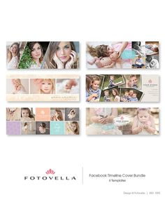 Photography Facebook Cover Templates 6pak Bundle 1095