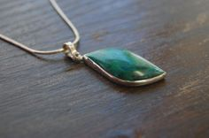 Items similar to Sterling Silver 925 Chrysocolla Pendant and Necklace on Etsy Pendant Design, Pendants, Necklaces, Pendant Necklace, Sterling Silver, Unique Jewelry, Handmade Gifts, Etsy, Kid Craft Gifts
