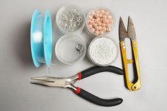 Materiály a nástroje, ktoré budete potrebovať pri výrobe čerstvého perla náramok