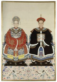 A CHINESE ANCESTOR PORTRAIT -  19TH CENTURY
