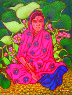 Tyeb mehta hero pinterest india for Asha ramachandran mural painting