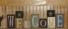 Primitive Tall Welcome Block Set