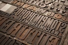 "Wood and lead type for ""Voodoo Rhythm Dance Night!"" poster"
