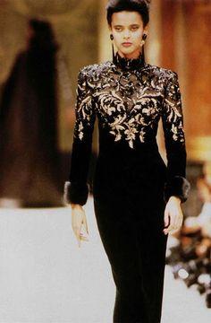 Jean Louis Scherrer show f/w 1988 feat Anna Getaneh