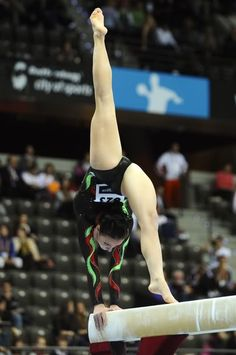 Elisabetta Preziosa of Italy on beam at the 2010 World Championships