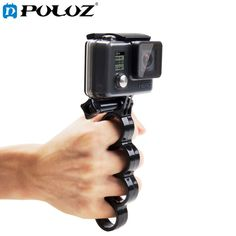 Phone Mount Metal Clamp for GoPro Hero Action Cameras and Cell Phones KANEED Folding Plastic Tripod