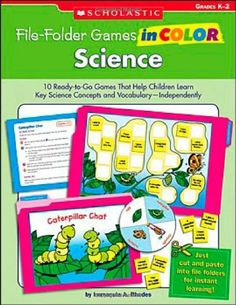 File-Folder Games in Color: Science: 10 Ready-to-Go Games That Help Children Learn Key Science Concepts and Vocabulary-Independently: Grades K-2 by Immacula A Rhodes, http://www.amazon.ca/dp/0439517648/ref=cm_sw_r_pi_dp_tl5Dtb1TSRZR7