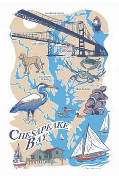 Chesapeake Bay Region Kitchen Towel – Vestiges