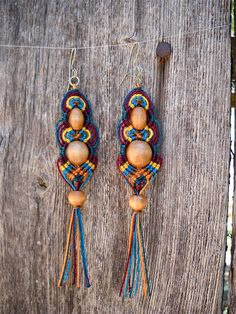 Ixazalvoh Macrame Earrings - Tierra de Maya Series