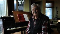 Peter Sculthorpe describes his works as his offspring – that's 250 and counting. Photo- Louise Kennerley