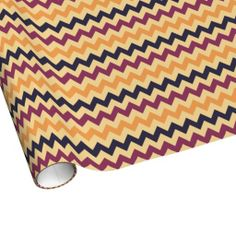 Wide Stripe Multi-Color Chevron Wrapping Paper