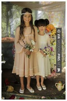 Sweet! - I Love Gorgeous flowergirl dresses. Read more - | CHECK OUT MORE GREAT FLOWER GIRL AND RING BEARER PHOTOS AND IDEAS AT WEDDINGPINS.NET | #weddings #wedding #flowergirl #flowergirls #rings #weddingring #ringbearer #ringbearers #weddingphotographer #bachelorparty #events #forweddings #fairytalewedding #fairytaleweddings #romance