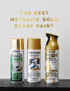 The Best Metallic Gold Spray Paint - visual heart creative studio - elena Best Gold Spray Paint, Spray Paint Tips, Metallic Gold Spray Paint, Rustoleum Metallic, Rustoleum Spray Paint, Gold Paint, Paint Metal, Painting Plastic, Spray Painting