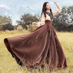 Moda Lolita, Lolita Mode, Long Skirts For Women, Long Maxi Skirts, Vintage Outfits, Vintage Dresses, Pretty Dresses, Beautiful Dresses, Style Lolita