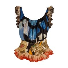 Spring, 2009 Christian Lacroix Beaded Silk Bodice | From a collection of rare vintage blouses at https://www.1stdibs.com/fashion/clothing/blouses/