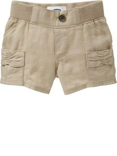 Linen-Blend Utility Shorts for Baby Product Image