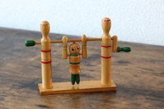 Items similar to Cute vintage Kokeshi doll on the high bar movable Japanese vintage folk toy vintage wood toy collectible Kokeshi doll on Etsy Vintage Storage, Vintage Tins, Vintage Wood, Matryoshka Doll, Kokeshi Dolls, Hama Beads Minecraft, Perler Beads, Gifts For Horse Lovers, Vintage Pottery