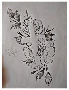 Small Cross Tattoos, Cross Tattoos For Women, Rose Tattoos For Men, Tattoos For Women Flowers, Tattoos For Women Half Sleeve, Tattoo Women, Women Sleeve, Half Sleeve Tattoos Forearm, Unique Forearm Tattoos