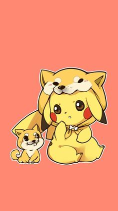 Cute Kawaii Animals, Cute Animal Drawings Kawaii, Kawaii Drawings, Cute Pokemon Wallpaper, Cute Disney Wallpaper, Cute Cartoon Wallpapers, Anime Chibi, Anime Kawaii, Pikachu Pikachu