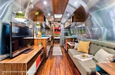 Believed to be one of only five left in public possession, Timeless Travel Trailers had the honor of restoring this rare 40-foot 1962 Airstream.