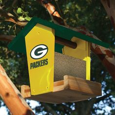 I would definitely make this Wooden Bird Feeder--but titans or niners
