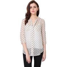 Cream Polka Daisy Shirt  http://goo.gl/EeCxgJ