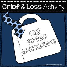 My Grief Suitcase for Grief Counseling - The goal of this is to help teach children how to cope while doing fun activities. Grief Activities, Counseling Activities, Therapy Activities, Fun Activities, Elementary School Counseling, School Social Work, School Counselor, Child Life Specialist, Grief Counseling