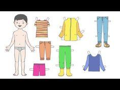 Puppe zieht Kleidung an   Deutsch lernen für Kinder   Learn German - YouTube